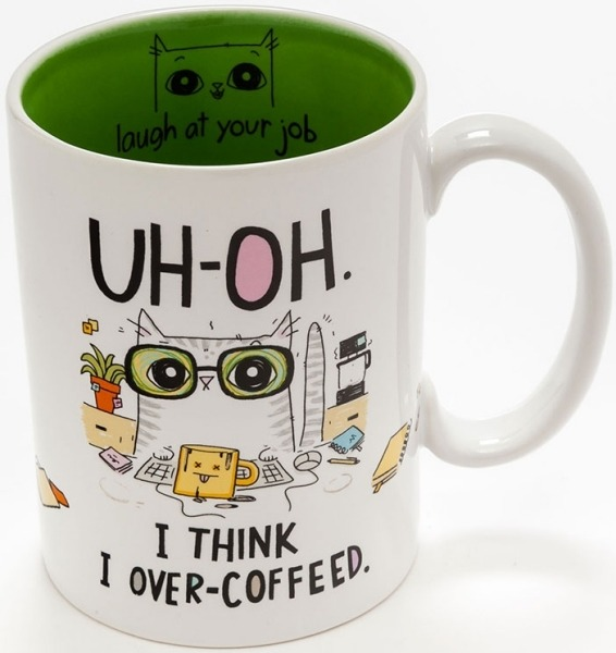 Cats At Work 4048923 Mug Uh-Oh Over-Coffeed