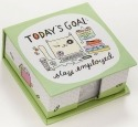 Cats At Work 4048948 Memo Cube Today'S Goal