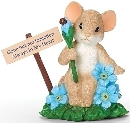 Charming Tails 12500N Forget Me Not Figurine
