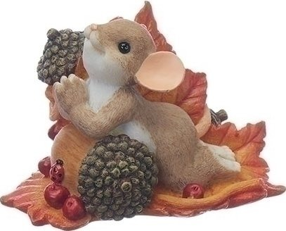 Charming Tails 130457 Praying Mouse On Acorn