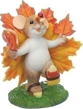 Charming Tails 130459 Mouse with Maple Leaf Turkey