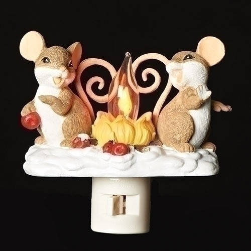 Charming Tails 131122 Mice By Fire Night Light