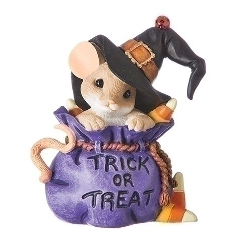Charming Tails 131632 Mouse With Hat Figurine