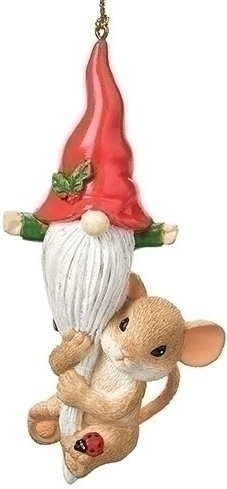 Charming Tails 134205N Mouse and Gnome Ornament