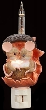 Special Sale 160165 Charming Tails 160165 Mice Acorn Bubble Nightlight