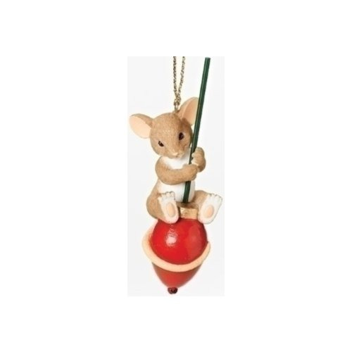 Charming Tails 30384 Mouse On Xmas Bulb Ornament
