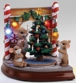 Charming Tails 30388 Musical LED Mouse Hole Scene