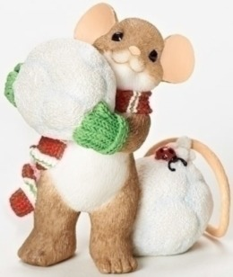 Charming Tails 30396 Mouse Snowbll Fig Did Some