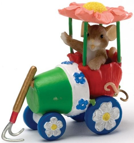 Charming Tails 4020486 Spring Blossom Express Lead Car Figurine