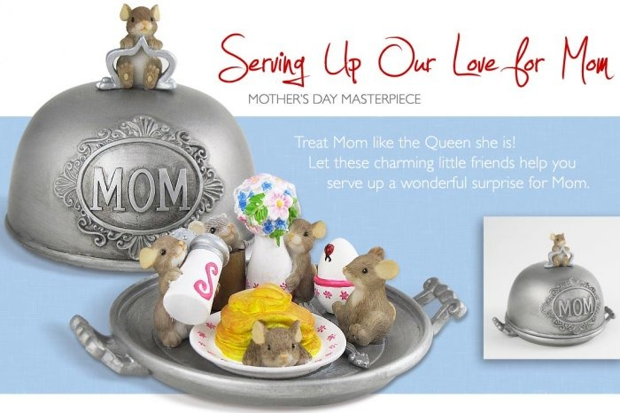 Charming Tails 4020495 Serving Up Love For Mom Figurine