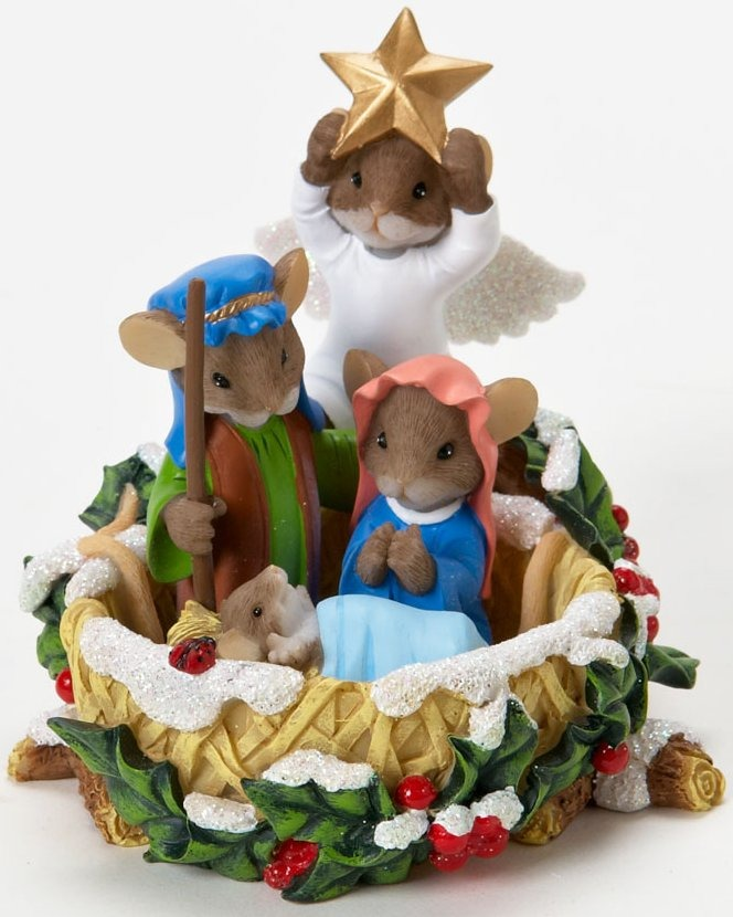 Charming Tails 4023649 Mouse Holy Family