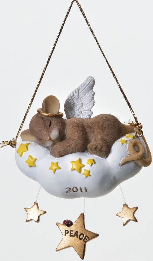 Charming Tails 4023672 Sleep in Heavenly Peace Ornament