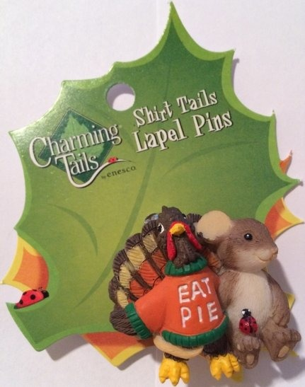 Charming Tails 4024335 Eat Pie Pin