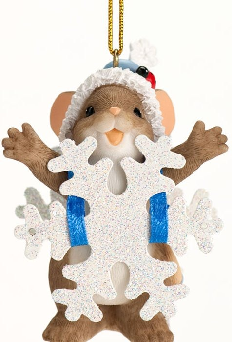 Charming Tails 4027665 Wishing You a Blizzard of Blessings Ornament