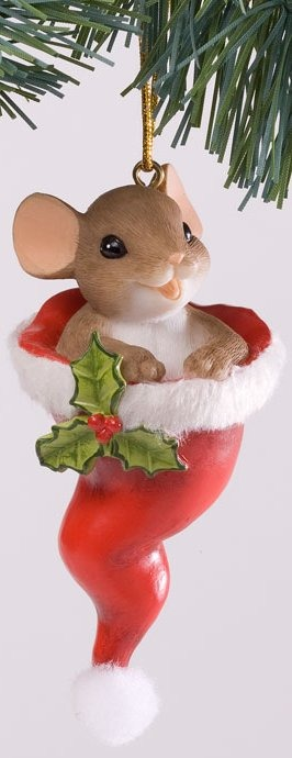 Charming Tails 4027668 Just Hat To Wish You a Merry Christmas Ornament