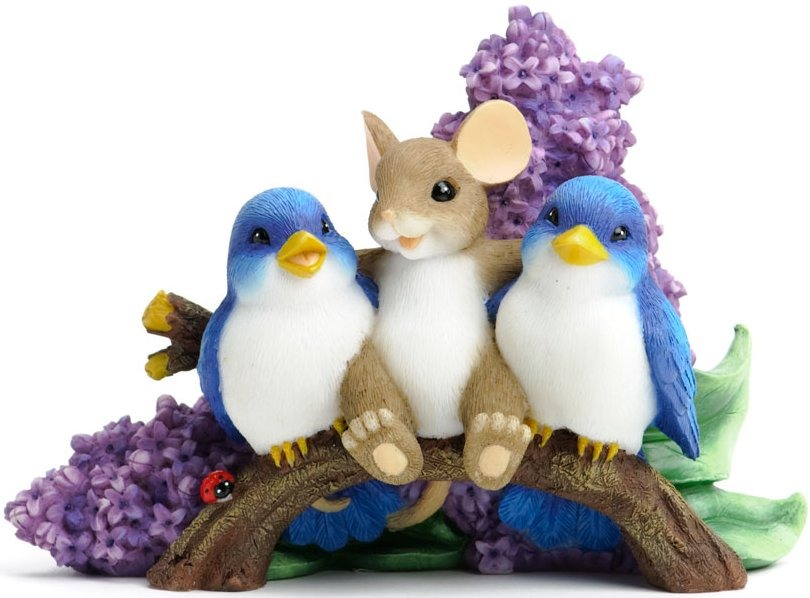 Charming Tails 4030951 Happiness is Having Tweet Friends Figurine