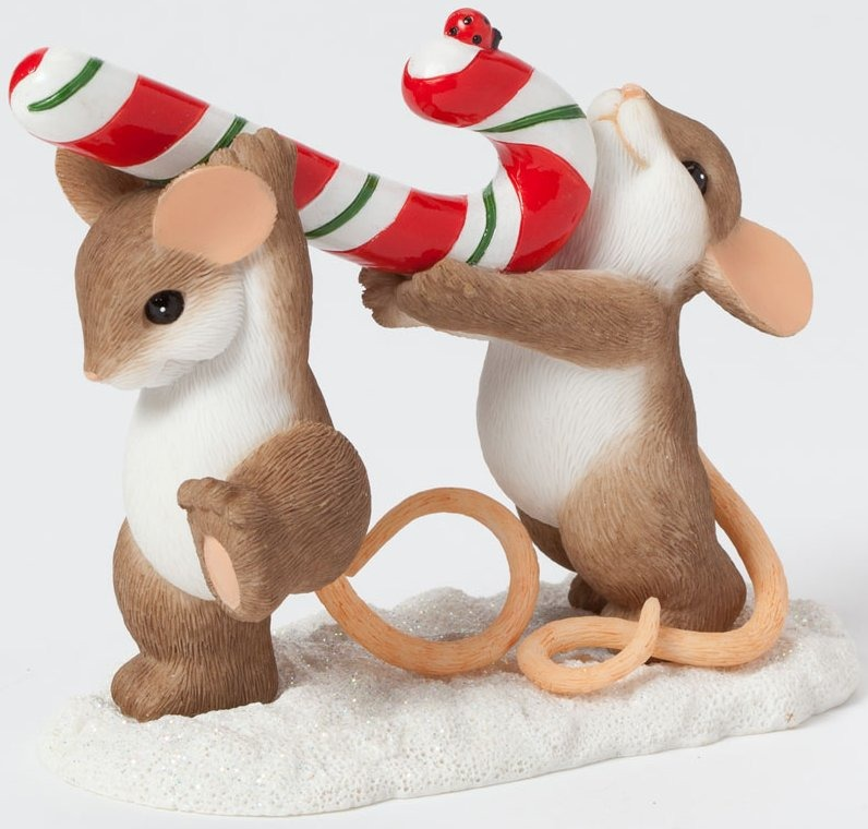 Charming Tails 4041185 Carrying Candy Cane
