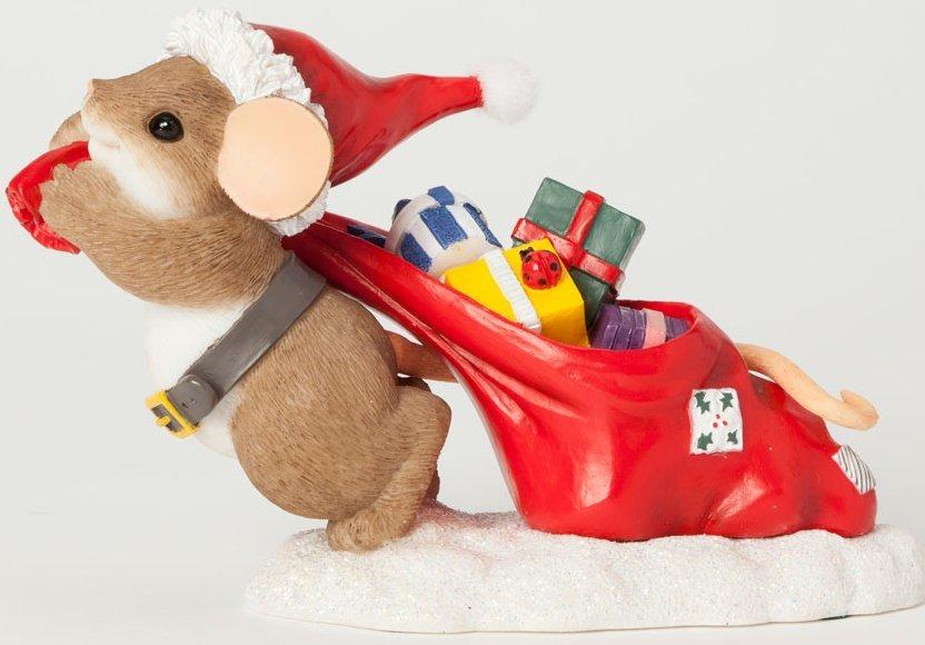 Charming Tails 4041189 Santa & Bag of Gifts