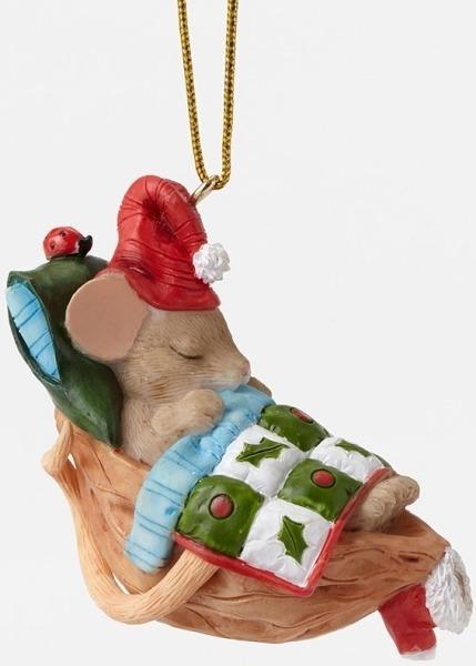 Charming Tails 4046956 Sleeping Nutshell Ornament
