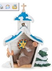 Charming Tails 811005 Quiet As A Church Mouse