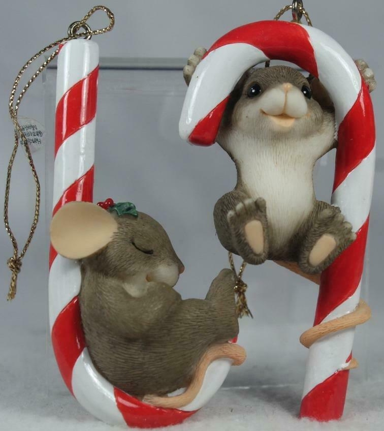 Charming Tails 86106 Candy Cane Set Of 2 Ornaments