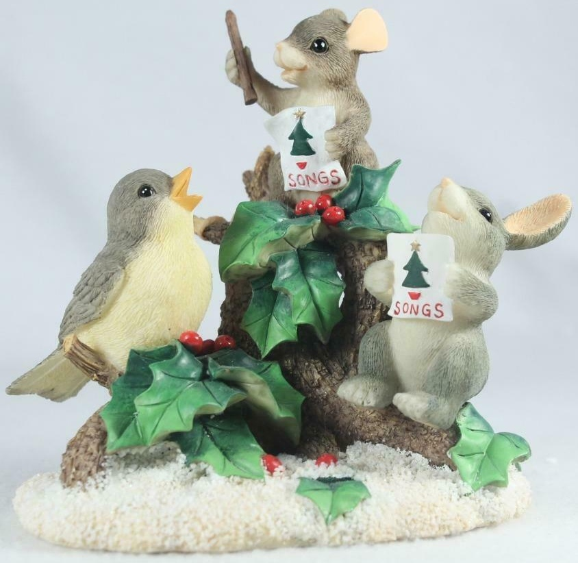 Charming Tails 87102 Everybody Sing Bird Rabbit & Mouse