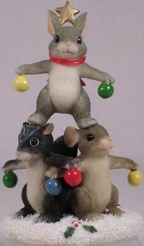 Charming Tails 87112 Christmas Tree Trio 1999