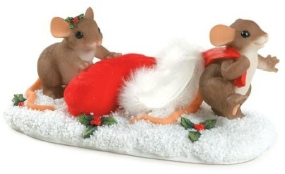 Charming Tails 87164 Getting Ready For Santa Ltd