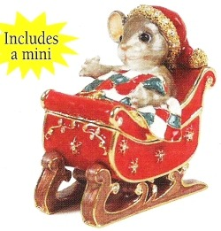 Charming Tails 89240 Treasures Mouse On Sleigh Figurine