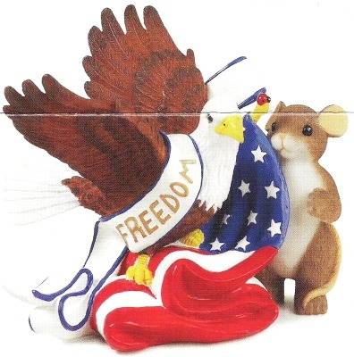 Charming Tails 89371 Freedom Figurine
