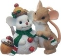 Charming Tails 130444 Mouse with Snowman Friend