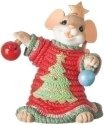 Charming Tails 131634 Mouse With Ugly Xmas Sweater Figurine