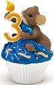Charming Tails 4020633 Mouse Birthday 3 Cupcake Figurine