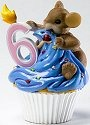 Charming Tails 4020636 Mouse Birthday 6 Cupcake Figurine