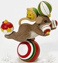Charming Tails 4023656 The Holidays Can Be a Real Balancing Act Figurine