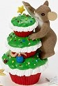Charming Tails 4023663 Merry Christmas Cupcake Figurine