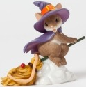 Charming Tails 4041161 Witch Flying on Broom