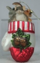 Charming Tails 95108 Close Knit Friends Glass Ornament
