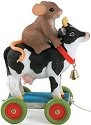 Charming Tails 98454 Cow Pull Toy W Charm