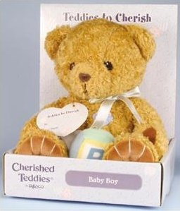 Cherished Teddies 115643 Baby Boy Plush
