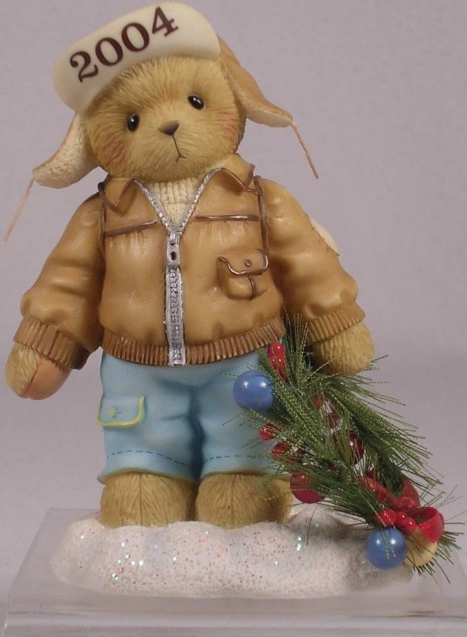 Cherished Teddies 118385 Figurine Knut Decorating The Holidays