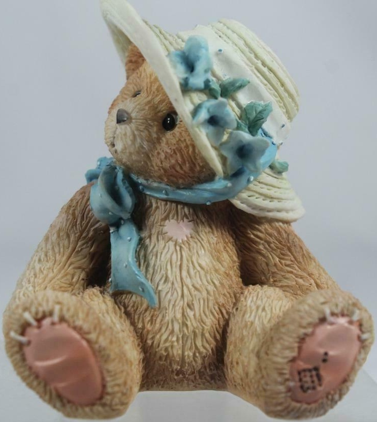 Cherished Teddies 128023 Christy Take Me To Your Heart Hat Blue Flowers