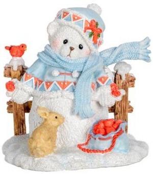 Cherished Teddies 132074 Snowbear Snowman Bear Figurine