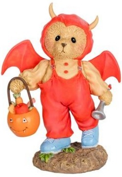 Cherished Teddies 132076 Bat Bear Halloween Figure