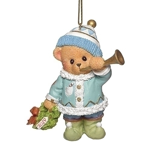 Cherished Teddies 132843 2019 Annual Ornament Teddie