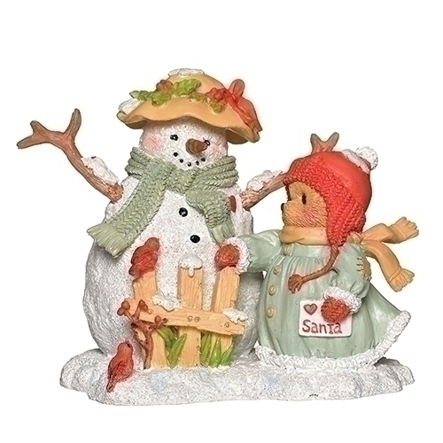 Cherished Teddies 132848 Betty Snowman Bear Figurine