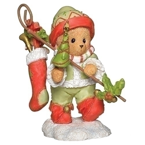 Cherished Teddies 132850 Peter Elf Figurine w Holly