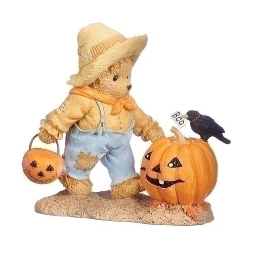 Cherished Teddies 132853 Halloween w Pumpkin Figurine