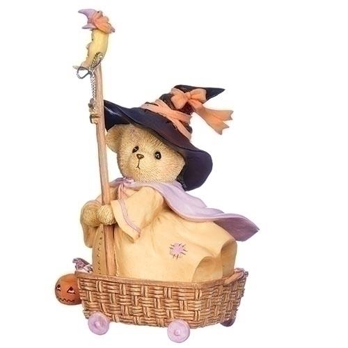 Cherished Teddies 132854 Wheel Basket Halloween