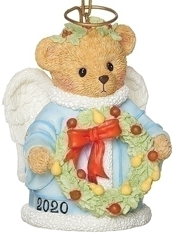 Cherished Teddies 133470 2020 Angel Bell Ornament